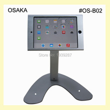 for mini iPad table security holder stand with safety specialized frame display on fair exihibition hotel or bank counter