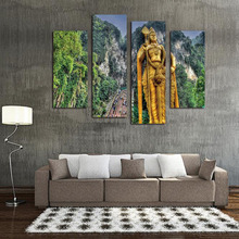 4 pieces classical buddha painting solemn Buddhism wall canvas art asian Religion ancient picture for house decoration no frame
