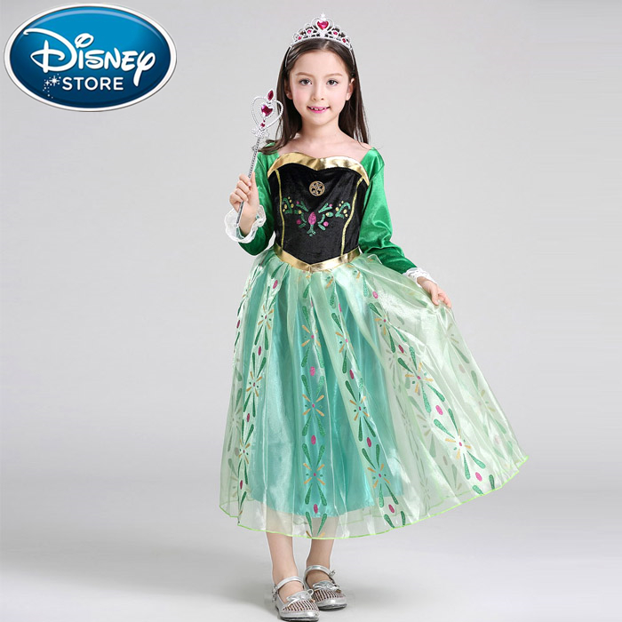 Disney Frozen dress disfraz anna elsa princess sofia dress vestido rapunzel jurk disfraces clothing infantil fever elza costume<br>