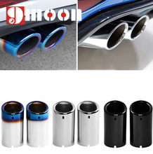 car styling Stainless steel Exhaust Muffler Tip Pipe auto accessories For VW Volkswagen Jetta MK6 1.4T Golf 6 Golf 7 MK7 1.4T(China)