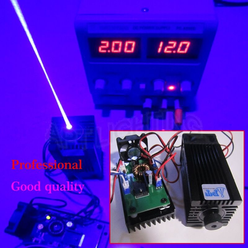 REAL 3500mw/3.5w 445 445nm 450nm blue Focusable Stage Light RGB Laser Module diode High Power laser cutter/Compact Design/TT L(China (Mainland))