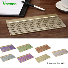 Vococal 7-color 78 Keys Backlit Ultra Slim Bluetooth Wireless Keyboard for Android Apple ISO iphone ipad Samsung Google Tablets(China)