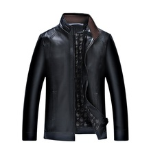 Men's Leather Jackets Spring and Autumn Slim Fit Faux Leather Jacket Casual Coats Stand Collar Men PU Leather Large Size 4XL