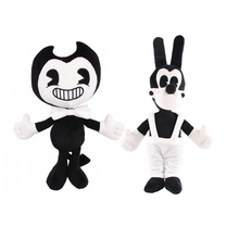 Large Size Bendy and the ink machine Bendy and Boris Alice Angel Plush Doll Toys 35 cm(China)