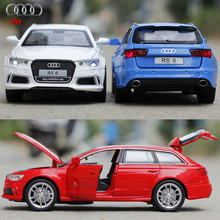 NEW 1:32 Audi rs6 Toys Car Classic Alloy Antique Car Model collectors Christmas gift doll