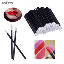 AddFavor 100pc Makeup Lip Gloss Brush Disposable Lipstick Brushes Eyeliner Eye Shadow Applicator Tools Beauty Essentials(China)