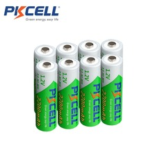 8Pcs/PKCELL AA Battery NIMH 1.2V 2200mAh Ni-MH 2A 1.2 Volt Low Self-discharge Durable AA Rechargeable Batteries Bateria Baterias(China)