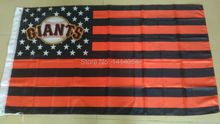 SF giants with stripes and stars Flag 150X90CM MLB 3X5 FT Banner 100D Polyester flag brass grommets 009, free shipping(China)