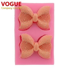 New Silicone Bowknot Butterfly Bow Fondant Mold Embossing Dies Sugar Art Tools Moule DIY Cake Decorating Tools DIY N1773