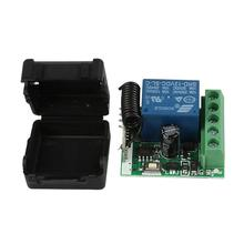 DC 12V 1CH 433MHz RF Universal Wireless Remote Control Switch Relay Receiver Diy Module for 433MHz Transmitter Learning Buttons(China)