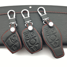 Car Leather Car Key Case Cover Mercedes Benz W203 W210 W211 amg W204 C E S CLS CLK CLA SLK Classe Smart Car Keychain