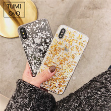 Buy iPhone X 10 Luxury 3D Shine Bling Goldleaf Sequins Soft TPU Case iPhone 5S SE 6 6s 7 8 Plus Back Phone Cover Capa Fundas for $1.96 in AliExpress store