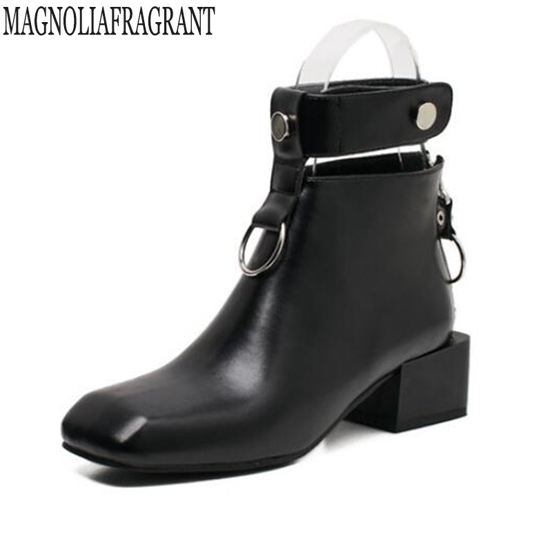 Women Boots Thick Heel Martin boots Platform Shoes Buckle Autumn Winter Sexy Boots For Women Riding Ankle Boots botas mujer k520<br>