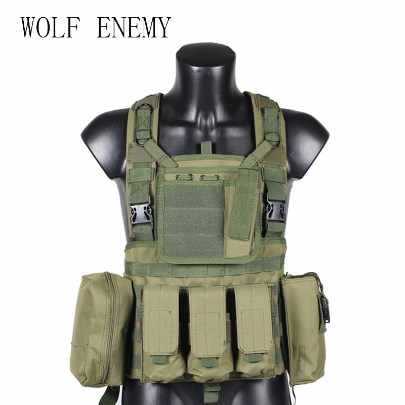 RRV Tactical Vest, Molle Vest, 600D Nylon, Airsoft Tactial Gear Colete Tatico, Black, Tan, OD Green, Woodland, CP, ACU<br>