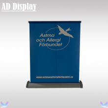 Wholesale 50PCS A3 Size Desktop Mini Aluminum Single Side Roll Up Banner Stand,Trade Show Booth Table Top Easy Pull Up Display(China)
