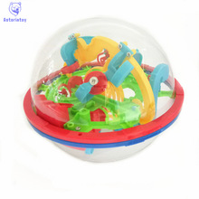 100 Steps Small Big Size 3D Labyrinth Magic Rolling Globe Ball Marble Puzzle Cubes Brain Teaser Game Sphere Maze(China)