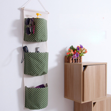 Hanging Storage Bag 3 Pockets Hanging Organizer With Pockets Home Storage Organizer Organizadores De Todos Os Tipos Hanger Pouch(China)