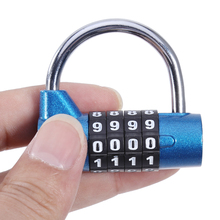 4 Digits Password Safety Lock Wide Shackle Combination Padlock Gym Cabinet Lock Cupboard Wardrobe Coded Safe Lock Small Size(China)