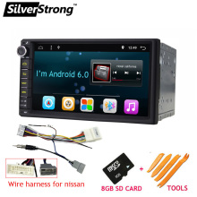 Free Shipping Universal 7 inch 2Din Car Radio DAB+ With Android OS 6.0 GPS Navigation Double Din without DVD player 707