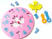 Random Color !! 1 PCS 2017 Hot Sale Baby Kids Foam Educational Toys Clock Number Puzzle Baby Brain Developmental Toy Gifts(China)