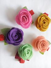 2016 High-quality Pet Rose hairpin Teddy puppy Headdress flower pet dog hairpin 5pcs/lot(China)