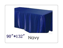 "Free shipping rectangle tablecloth size 90""*132"" color  navy blue for wedding decoration /party tablecloth"