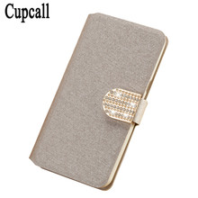CupcallLuxury PU Leather Case Cover For Sony Ericsson Xperia ray ST18i ST18 Case Flip Cover Phone Bag with Diamond and Butterfly(China)