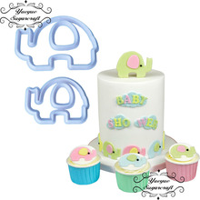 Yueyue Sugarcraft Elephant plastic fondant cutter cake mold fondant mold fondant cake decorating tools sugarcraft(China)