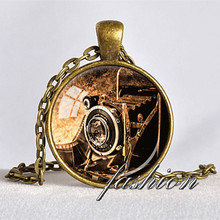 ANTIQUE CAMERA PENDANT Camera Necklace Photograper Gift Bellows Camera Pendant Vintage Camera Jewelry Gift for Photographer(China)