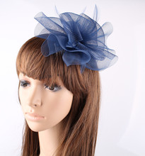PROMOTION Ladies cheap feather flowers fascinators for wedding hats bridal hair accessories cocktail hats P05(China)