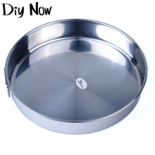 Stainless steel plate of western-style food dish pastry dish fruit bowl flat chassis 26 cm
