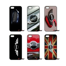 For iPhone 4 4S 5 5C SE 6 6S 7 Plus Samsung Galaxy Grand Core Prime Alpha UK Mini cooper LOGO Print Hard Phone Case Cover(China)