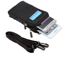 Outdoor Double Pockets Bag Sport Phone Case For Apple iPhone 4 4s 5 5s 5c SE 6 6S 7 Plus Cover Hook Loop With Belt Pouch