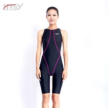 HXBY Swimsuits competitive swimming suits girls racing swimwear women competitive knee lengthswim suit competition swimsuit knee