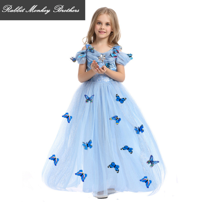 Halloween Children Clothing Cinderella Butterfly princess dress girls summer dress performance clothing Costume Dress for girl<br>