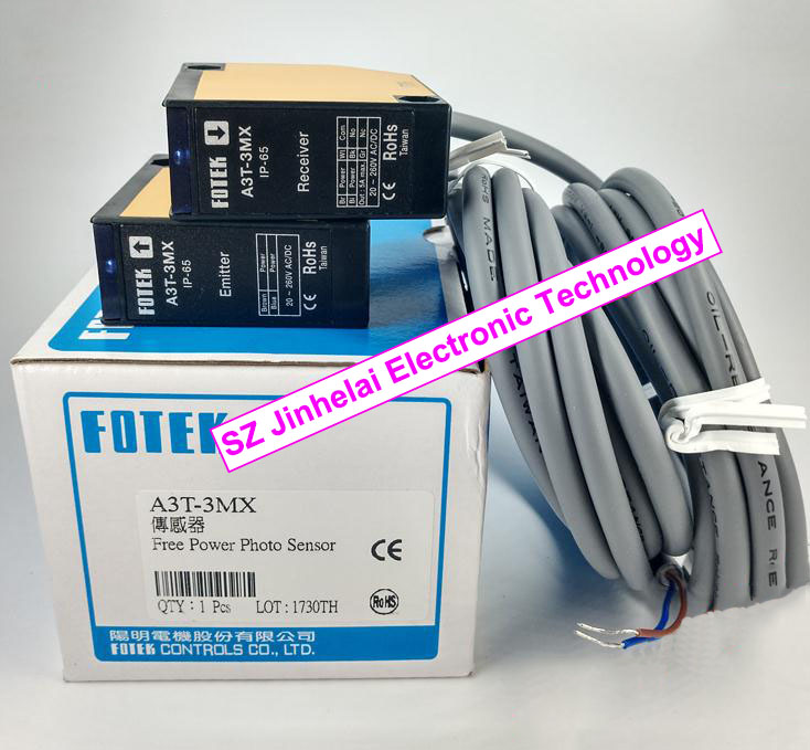 100% New and original FOTEK Photoelectric switch A3T-3MX  Free Power Photo Sensor<br>