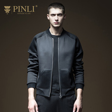 PINLI product made 2018 spring new men's cultivate morality baseball collar fleece male coat B181309094(China)