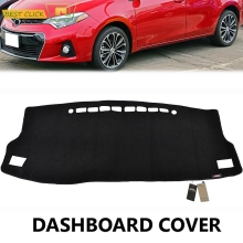 Dash Mat Dashboard Cover Dashmat For Toyota Corolla iM Auris 2014 2015 2016 2017 Dash Board Cover Pad Sun Shade Carpet(China)