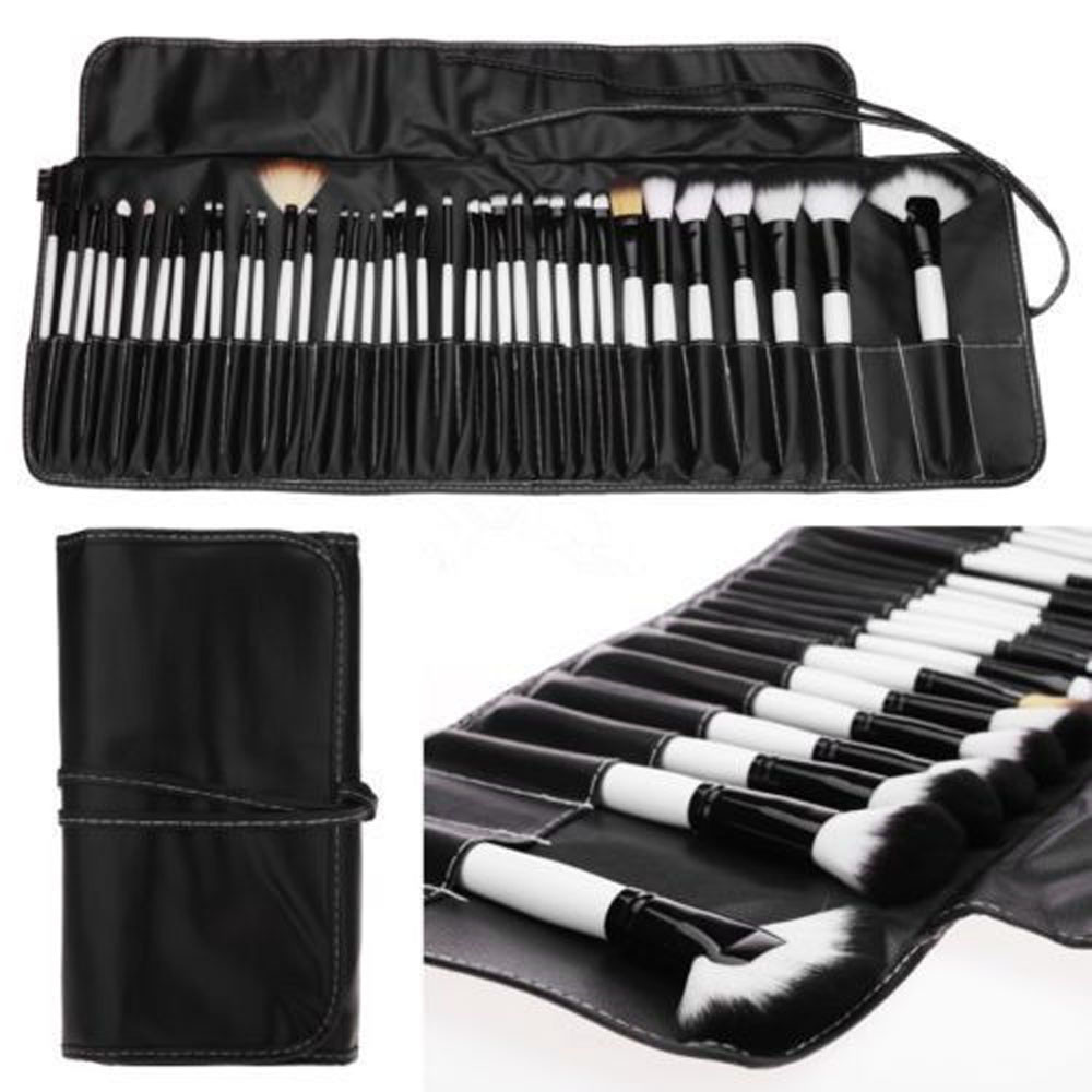 36PCS Soft Cosmetic Makeup brushes Foundation Eyeliner Eyebrow Shadow Concealer Blush Brushes Make Up Set Kit With Pouch Bag#10<br>
