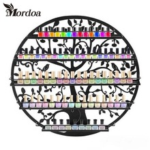 Mordoa Limited Eco-friendly Shelf Storage High Quality Art Nail Polish Rack 60*60CM Circular Wall Shop Racks Jewelry Display