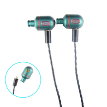 DIY Replaceable MMCX In Ear Earphones Stereo Bass Green DD Dynamic Hifi Headphone with Cable for shure SE535 SE846 SE215 Headset(China)