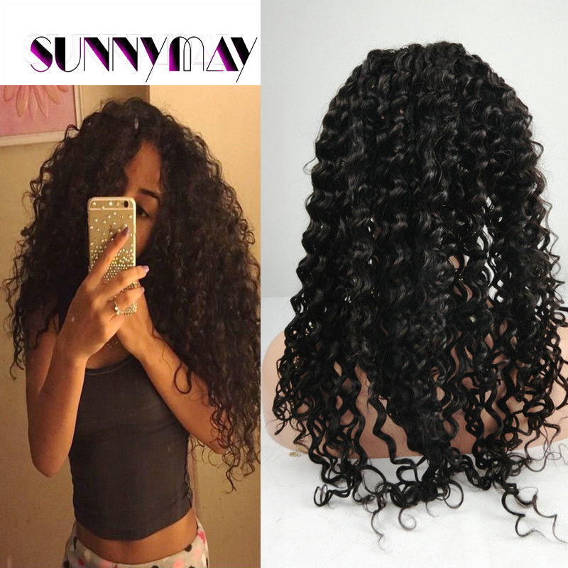 7A Glueless Full Lace Human Hair Wigs For Black Women Natural Color Brazilian Virgin Hair Curly Lace Front Wig 10-26inch Wigs<br><br>Aliexpress