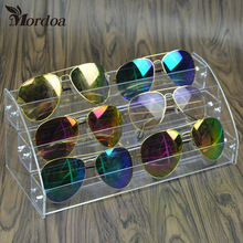 Free Shipping 3 Tiers Acrylic Makeup Nail Polish Shelf Organizer Rack Display Lipstick/Sunglasses Rack Stand Holder