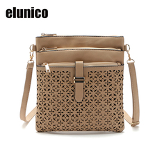 2017 Fashion Small Bag Women Messenger Bags Soft PU Leather Hollow Crossbody Clutches Bolsas Femininas Bolsa - elunico Store store
