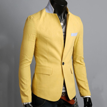 Casual Men Suit Blazers Formal One Button Suit Coat Slim Fit Jacket Outwear Tops 359(China)