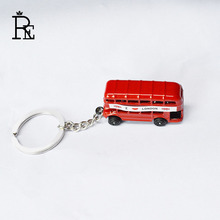 RE 100pcs/Lot Free Shipping Exquisite UK i love london Red Bus Key Chains High Quality Personality KeyChain Keyring Keyholder
