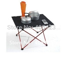 floding desk. Beach Picnic table Park tables aluminium alloy camping outdoor table chairs light handy 1pc(China)