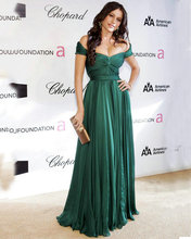 Sofia Vergara Green Off-the-shoulder Dress Stores Online 80th Annual Academy Awards Green Chiffon Mother Dress