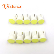 Car led 10pcs/lot T10 194 168 W5W 6 LED COB Chip Car Door Light Clearance Lights Wholesale Car Side Light Bulbs Car styling