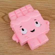 Mayitr 2017 New Squishy Cartoon Chocolate Pink Girl Bread Kawaii Cute Charm Phone Straps Slow Rising Cake Squeeze Toy Kids Gift